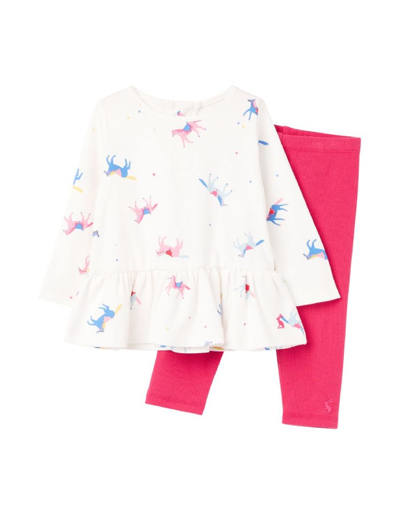 JOULES Olivia Applique Top & Legging Set